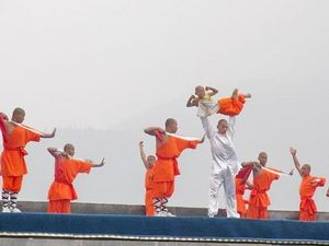 Monks in group