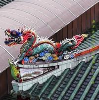 Dragon Temple roof decoration Kuala Lumpur