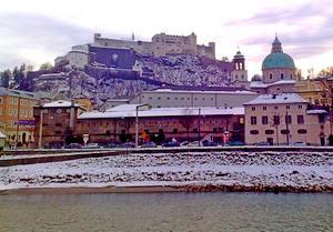 Salzburg castle from Capuchin mountain