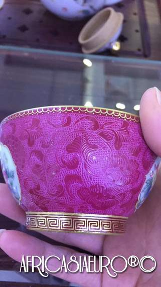 pink mastered porcelin cup