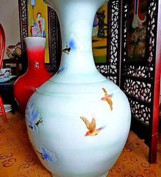 africasiaeuro white blue vase